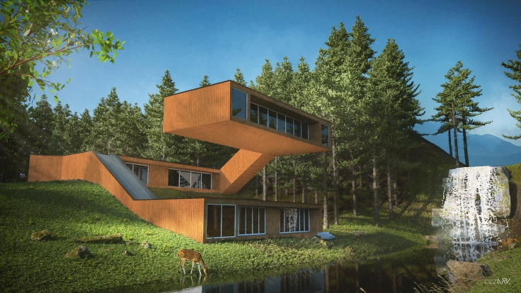 House in Forest_3D_cezark